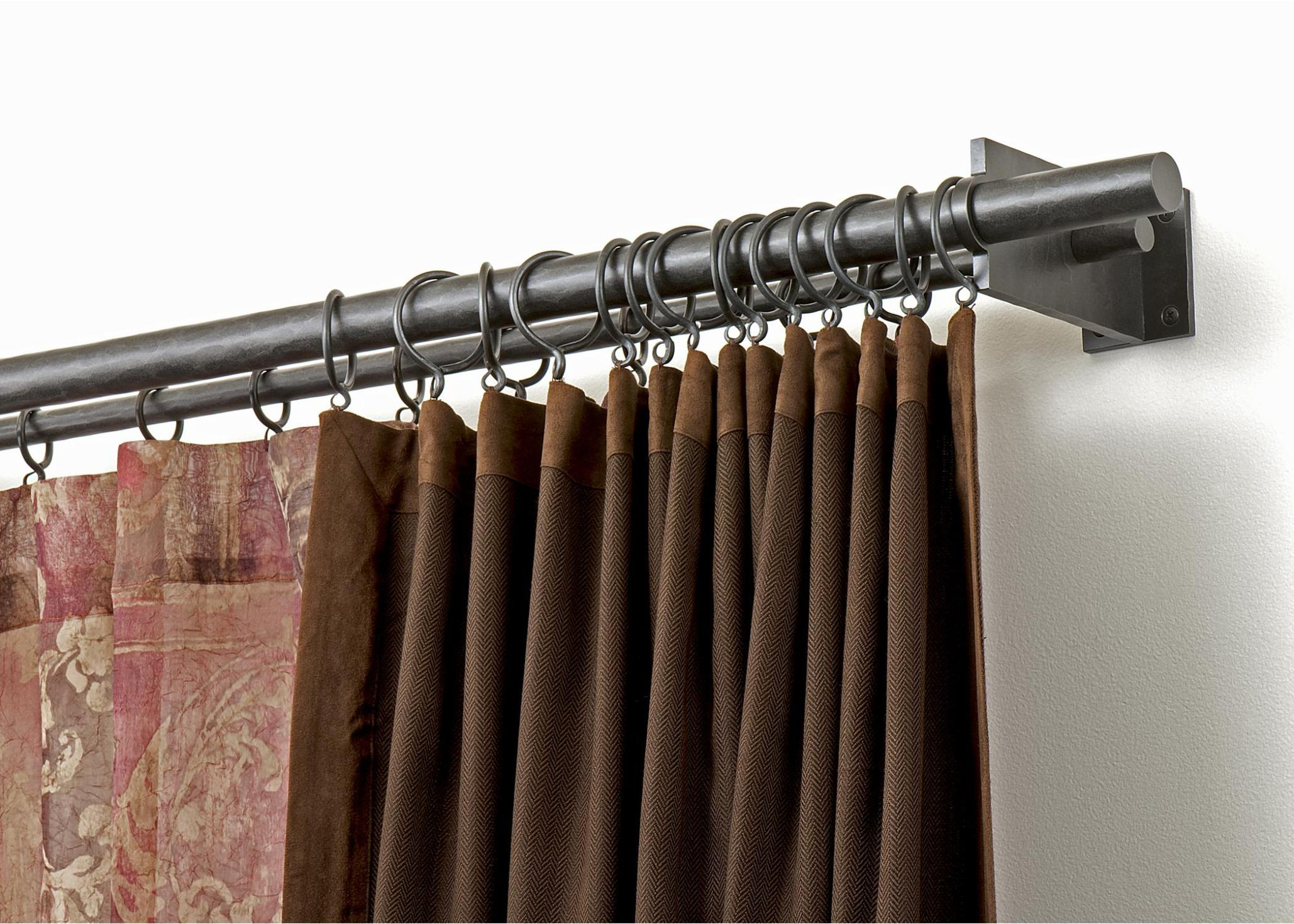Image of: Double Rod Shower Curtain