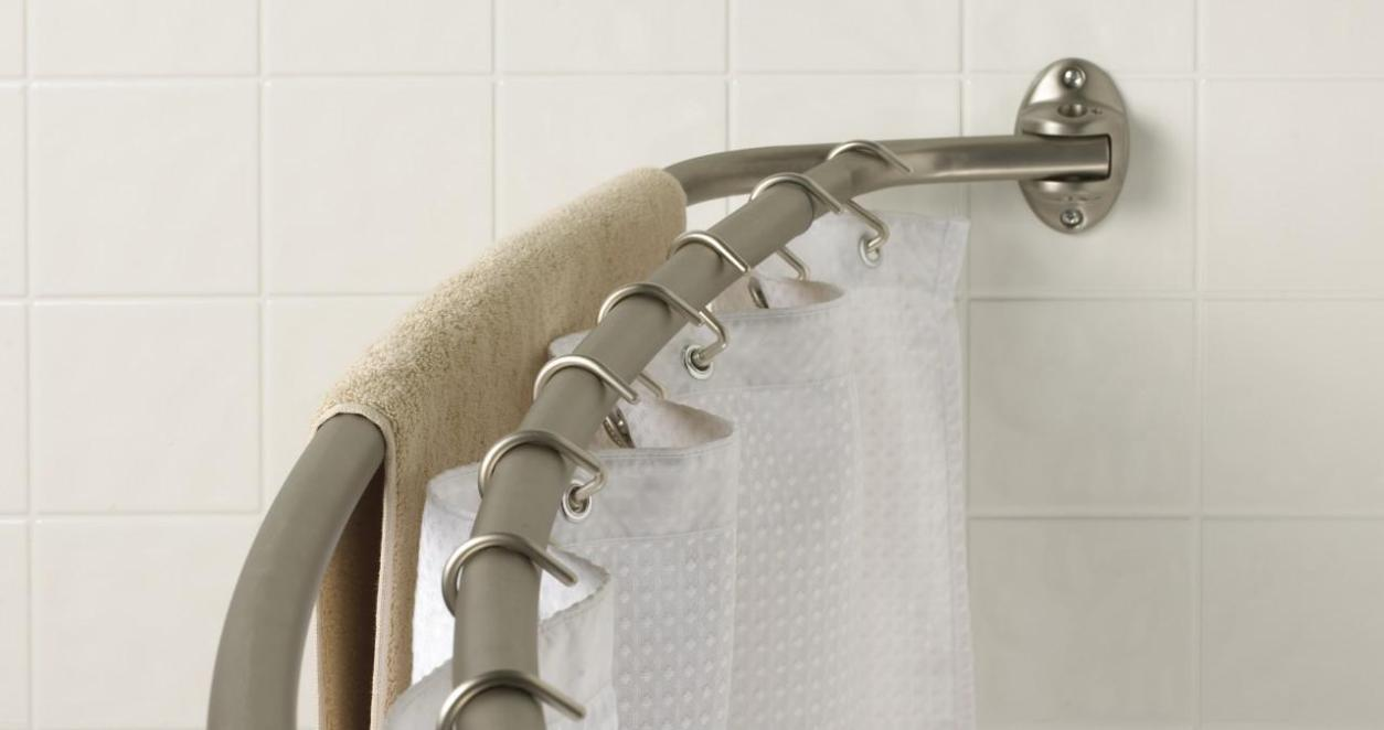 Image of: Double Shower Curtain Rod Tension