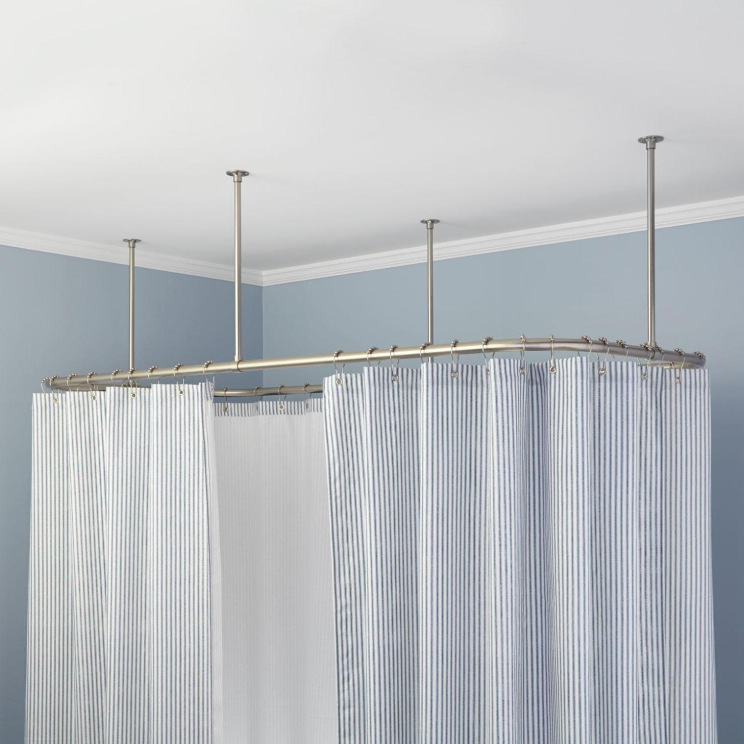 Image of: Double Tension Shower Curtain Rod