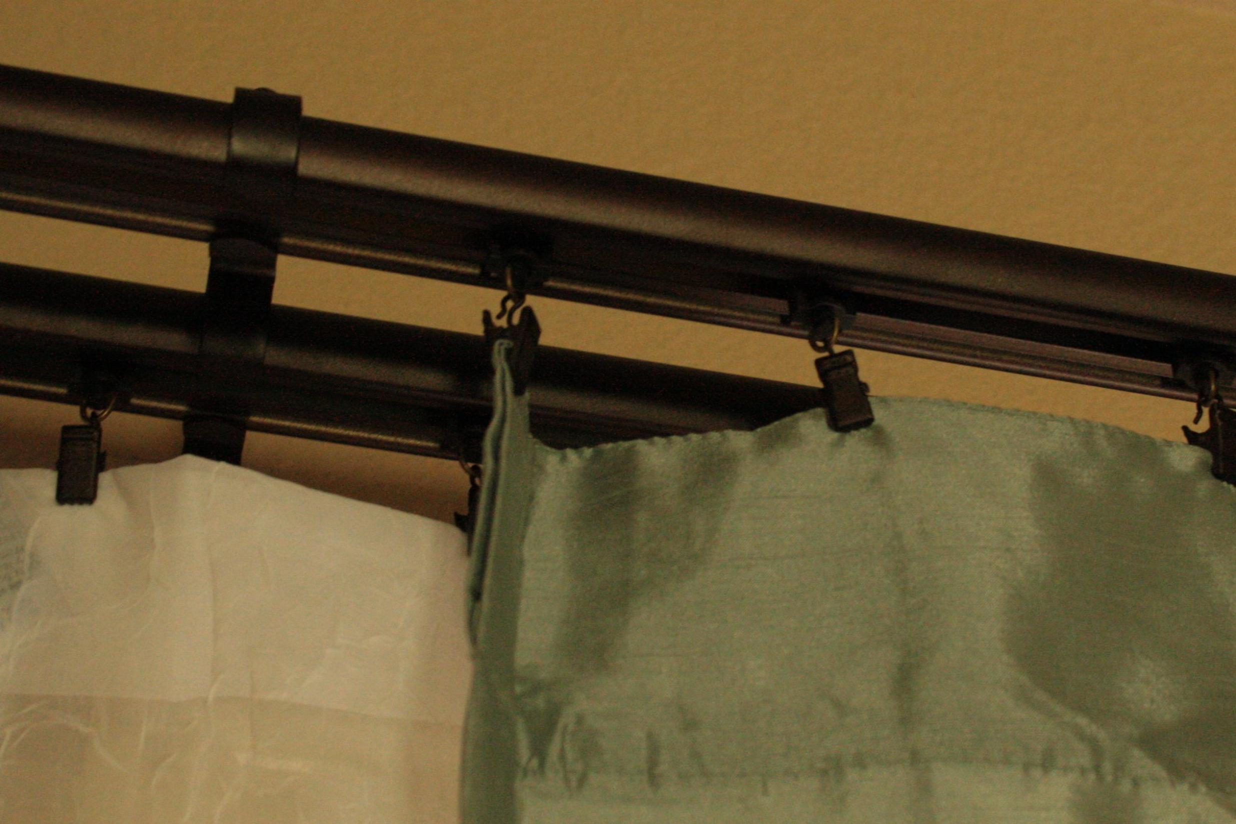Image of: Double Traverse Curtain Rod