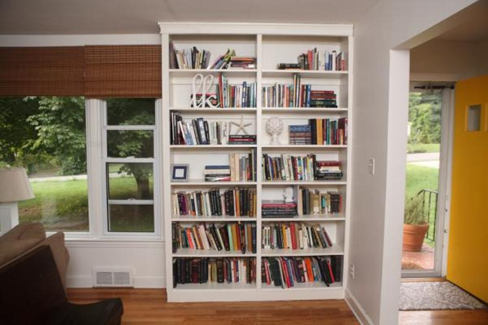 Image of: Easy diy built in bookcases