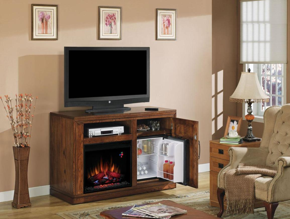 Image of: Electric Fireplace TV Console