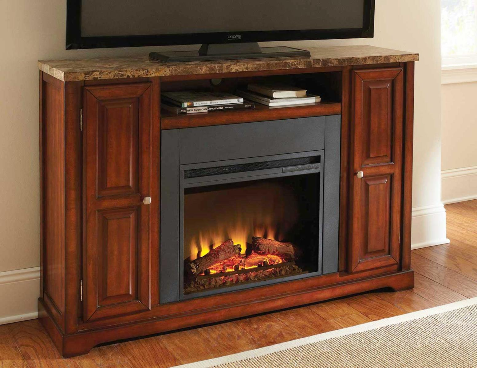 Image of: Electric Fireplace TV Stand Clearance