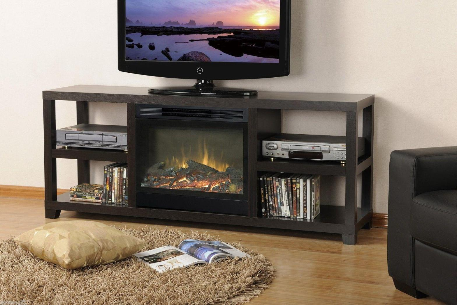 Image of: Electric Fireplaces With Mantels and Hearth