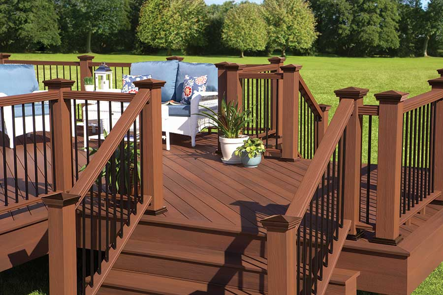 Image of: Elegant Composite Deck Railings