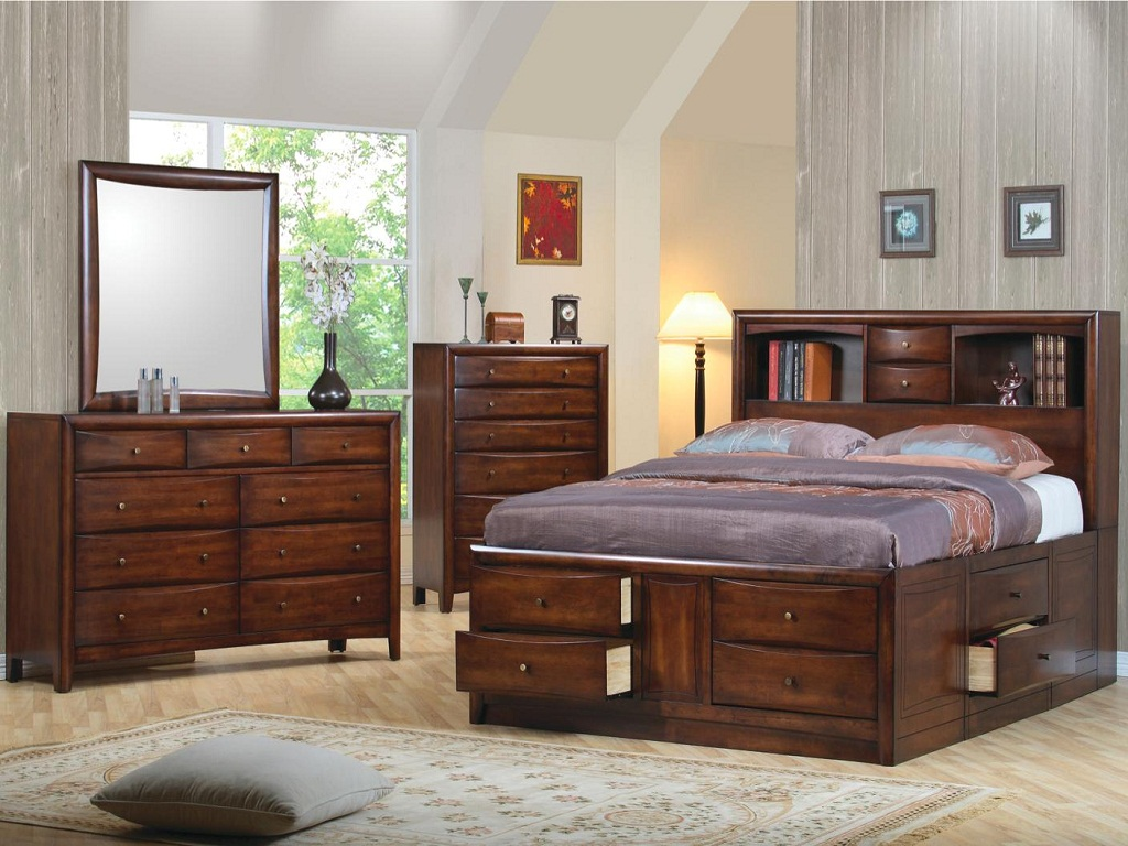Image of: Elegant Storage Bed Queen Size