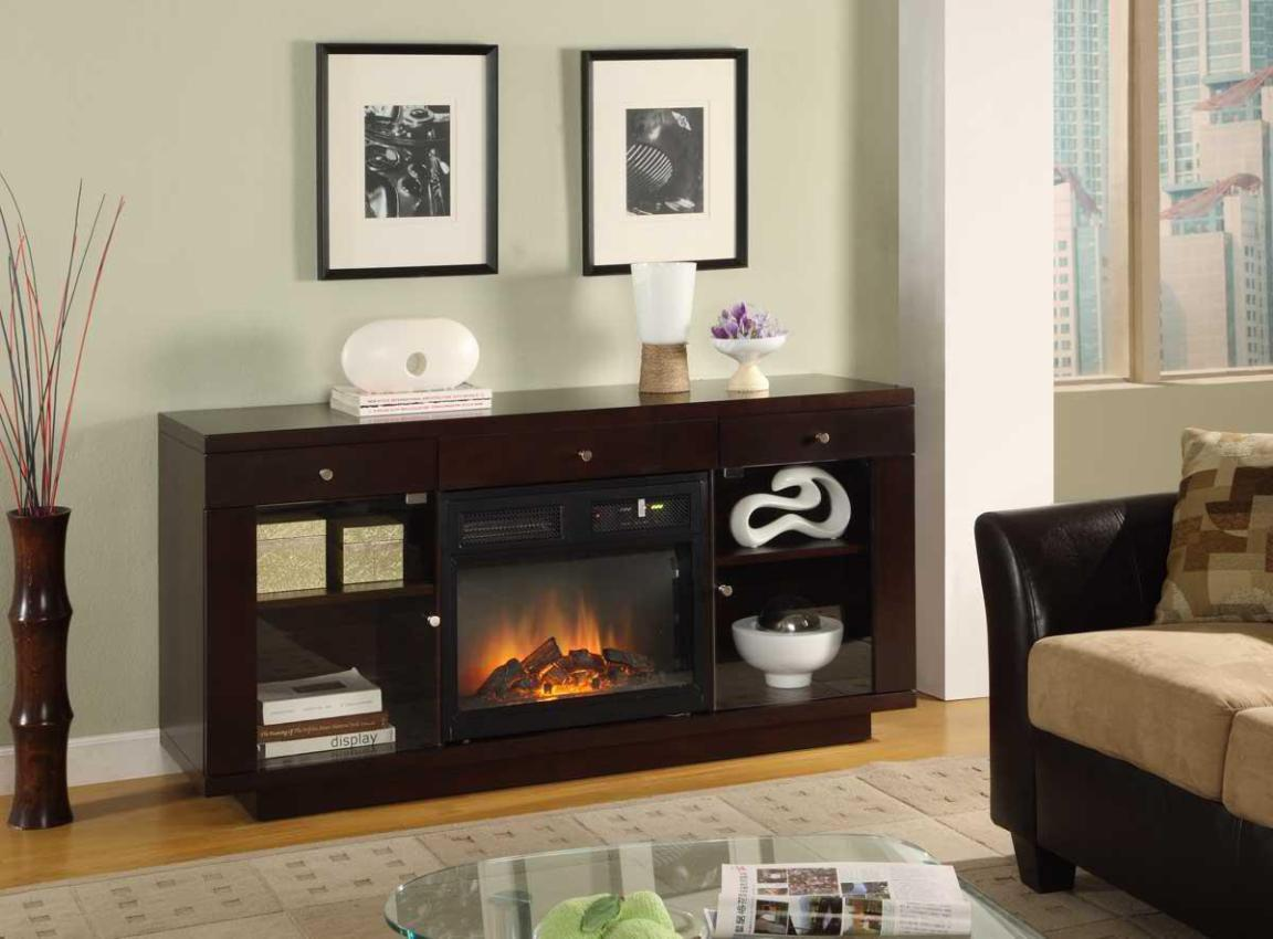 Image of: Entertainment Center Electric Fireplace