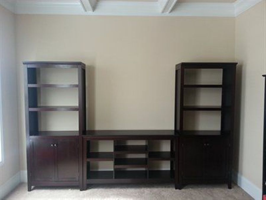 Image of: Espresso bookcase with drawers