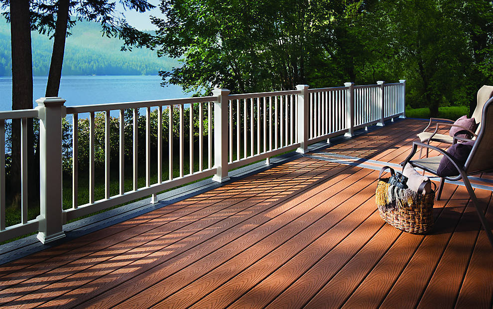 Image of: Excellent Vinyl Deck Covering