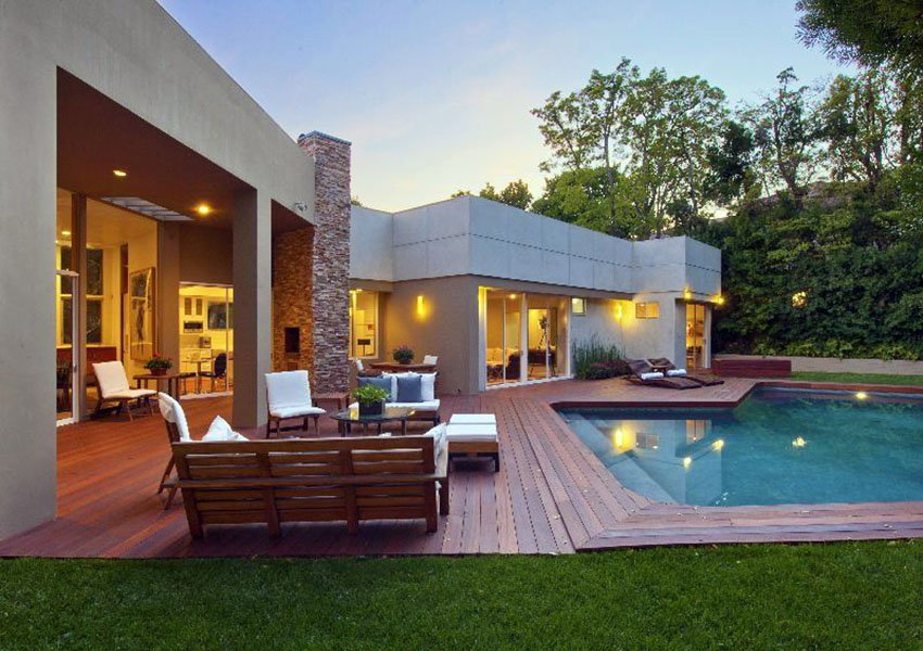 Exterior Decks Around Pools