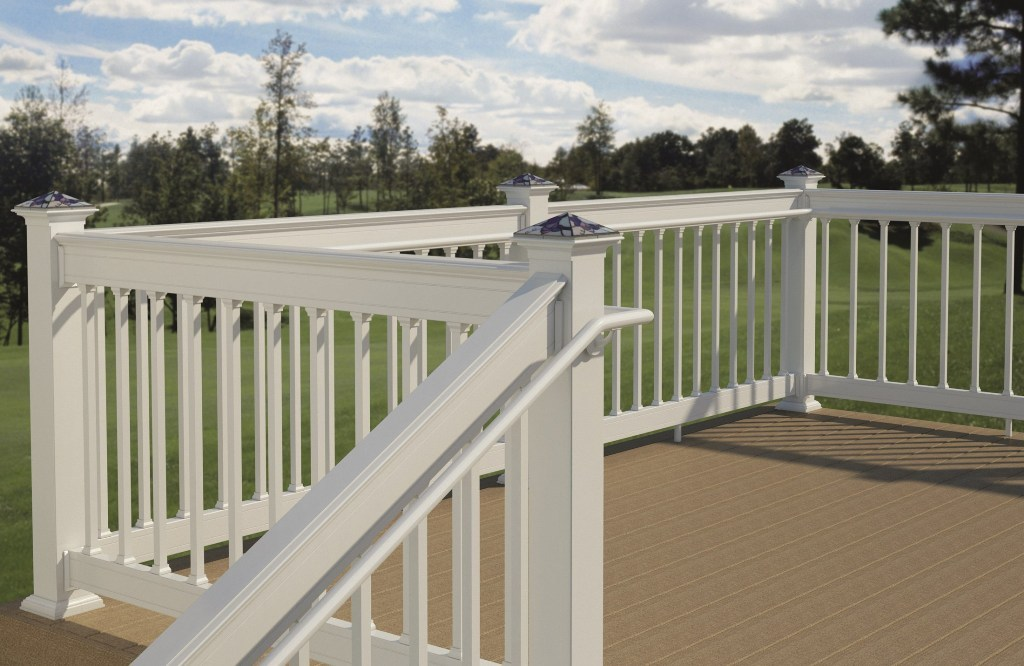 Image of: Fabulous Metal Deck Railing Ideas