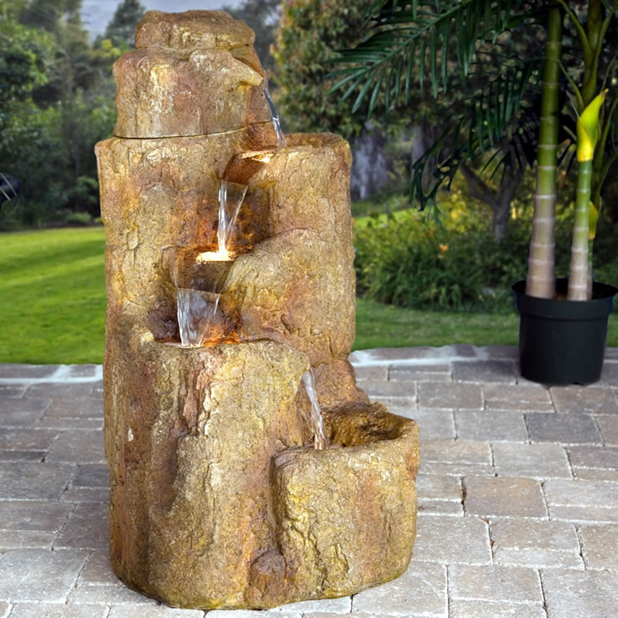 Image of: Fabulous Outdoor Waterfall Fountain