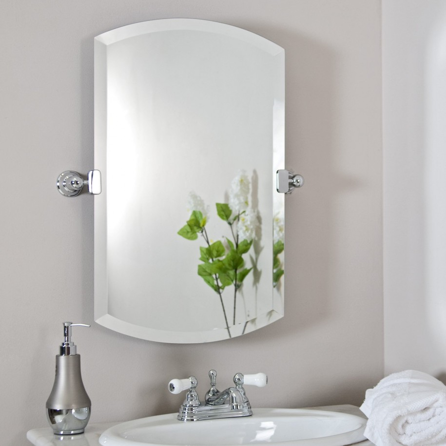 Image of: Famous White Frame Mirror