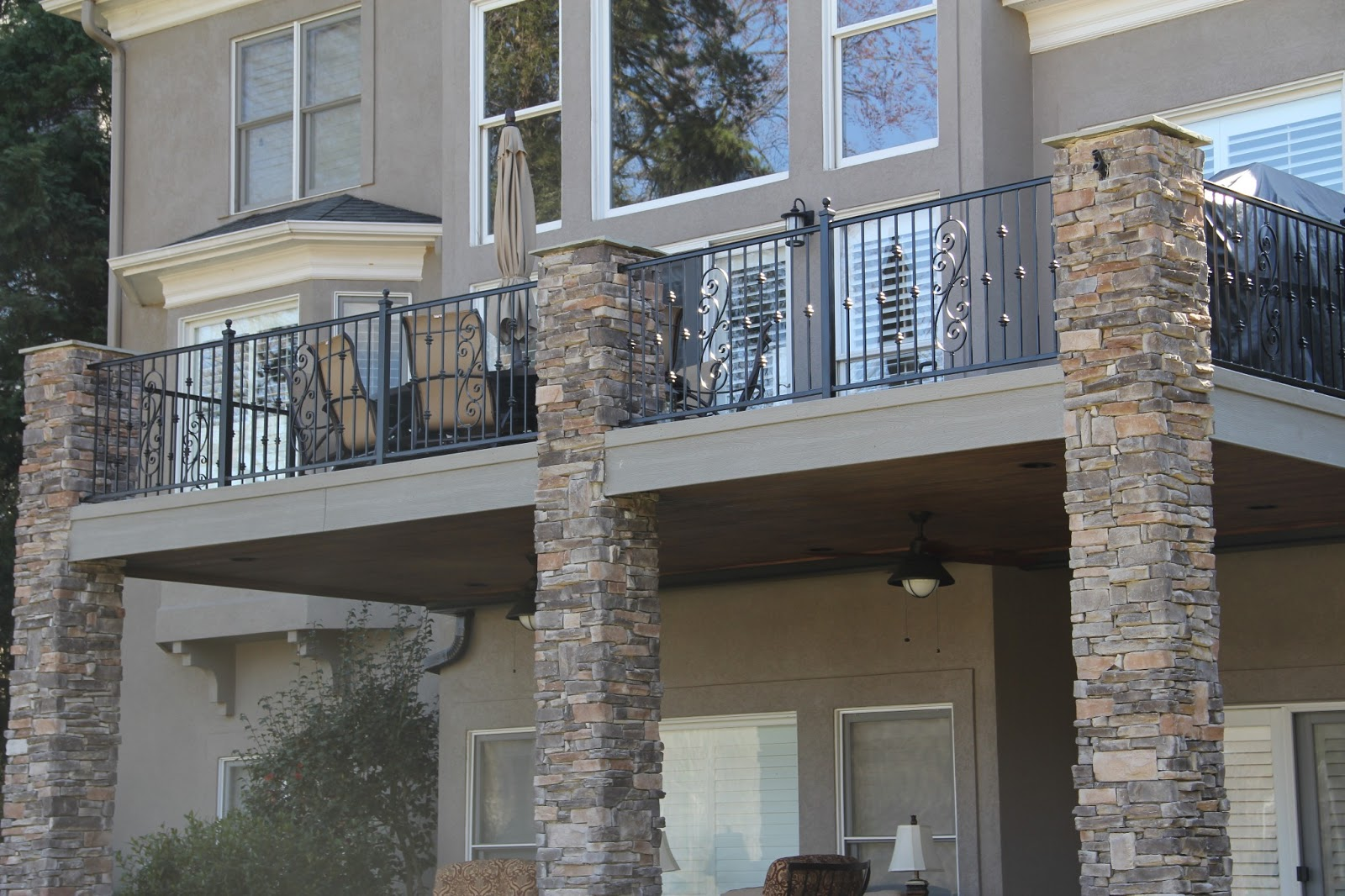 Image of: Famous Wrought Iron Deck Railing