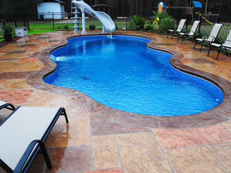Image of: Fiberglass Inground Pools Design Ideas