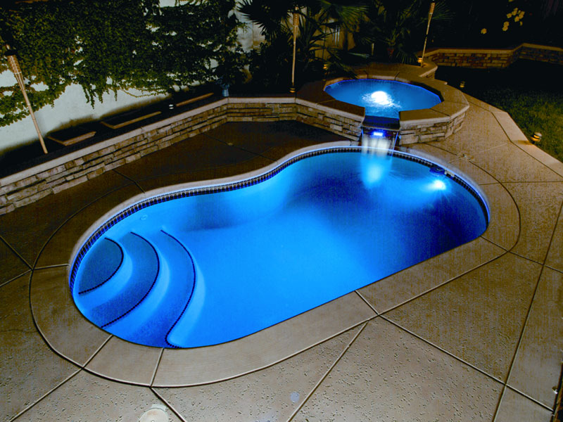 Image of: Fiberglass Inground Pools Design