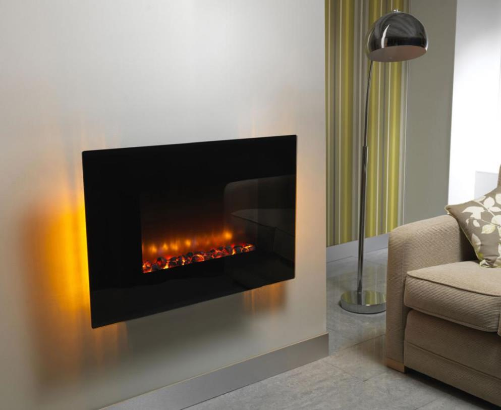Image of: Fire Sense Wall Mounted Electric Fireplace
