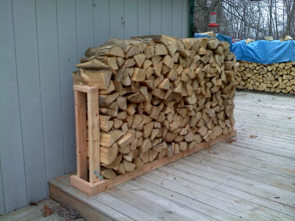 Image of: Firewood Holder Outdoor