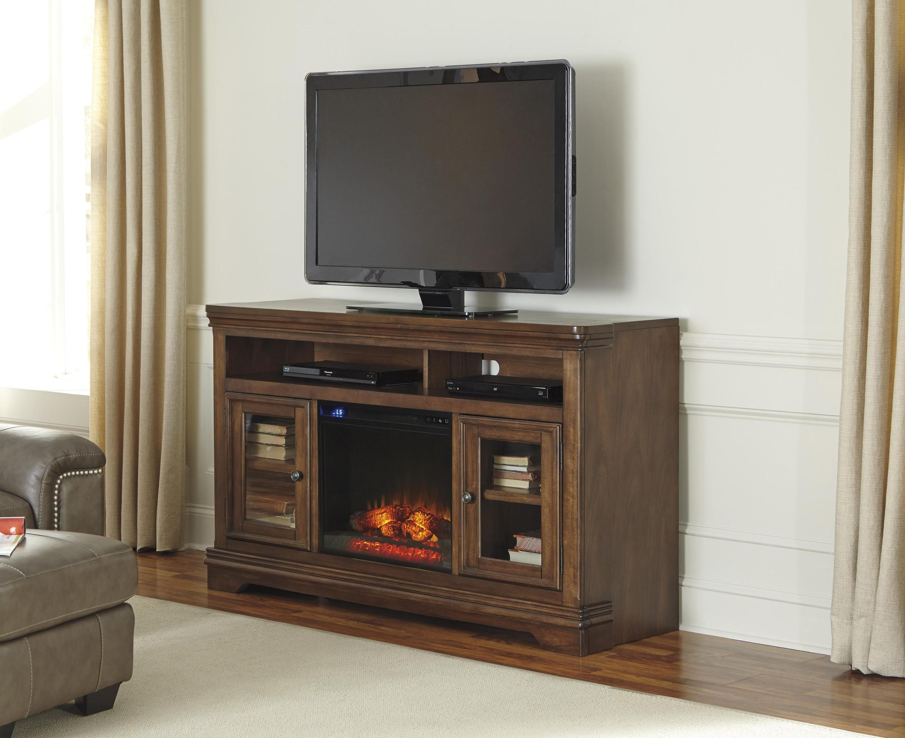 Image of: Flat Screen Tv Stand With Electric Fireplace
