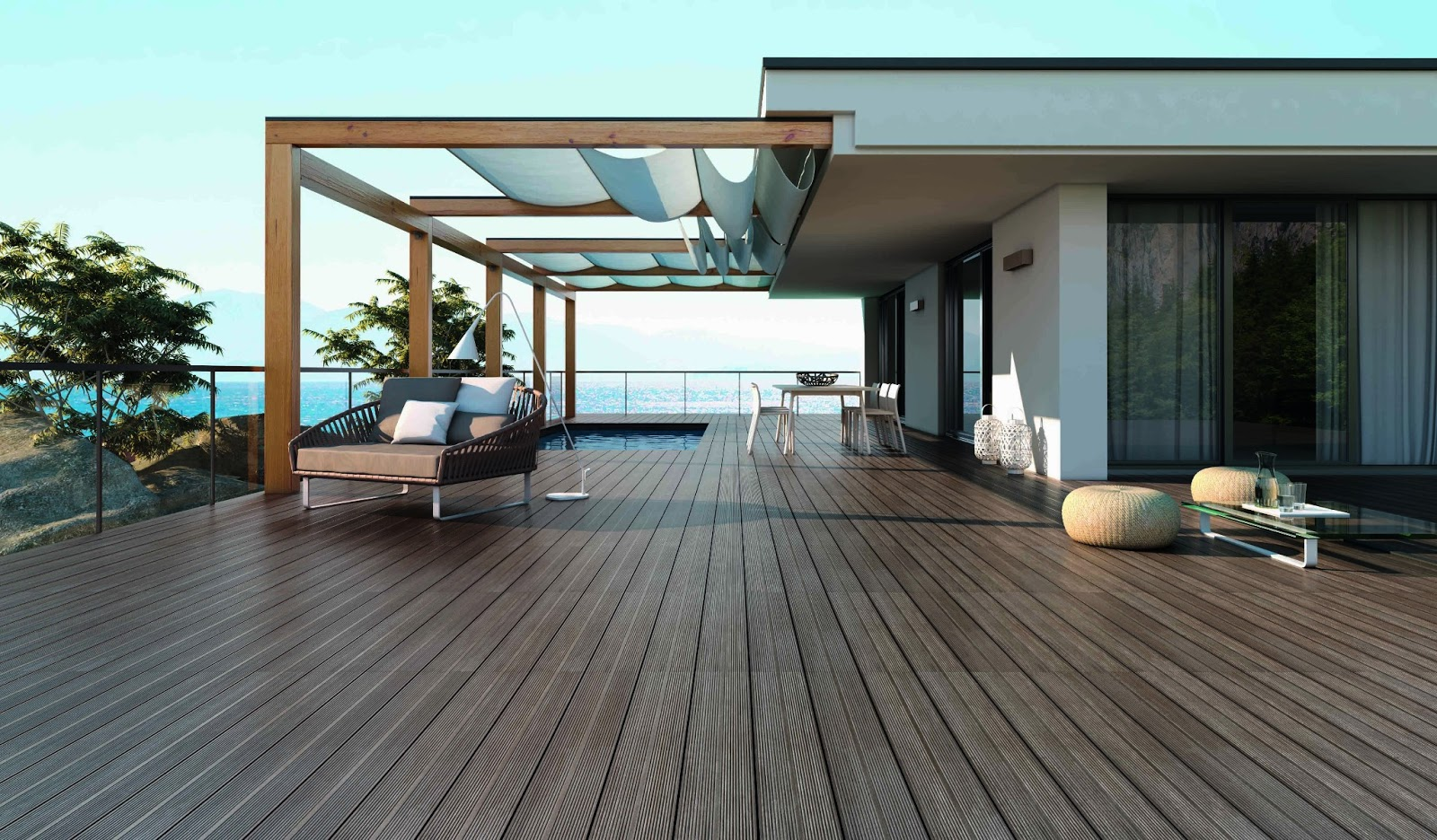 Image of: Floating Vifah Deck Squares