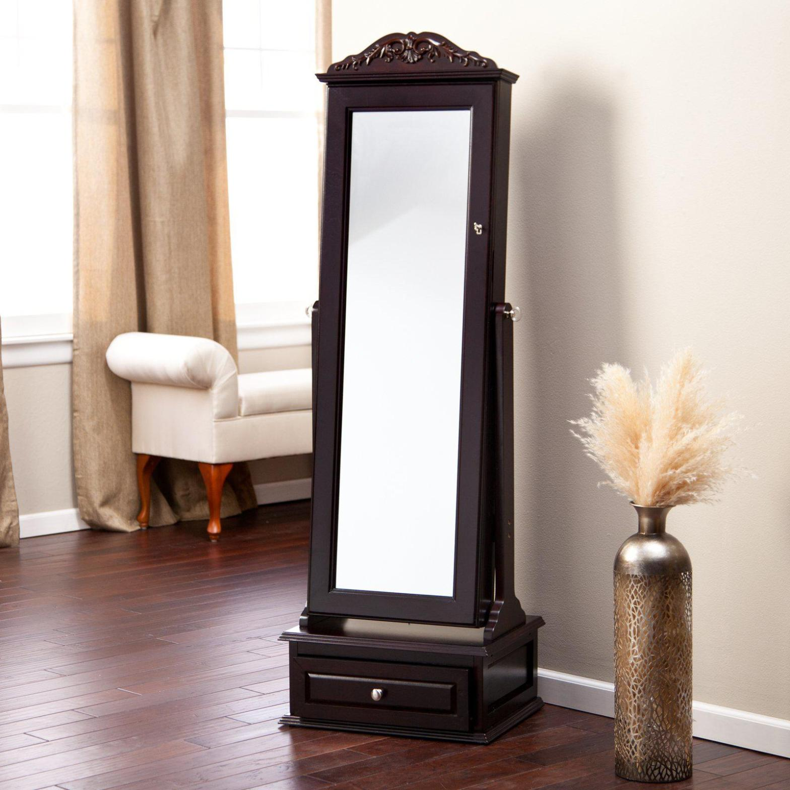 Image of: Floor Standing Mirror Jewelry Armoire