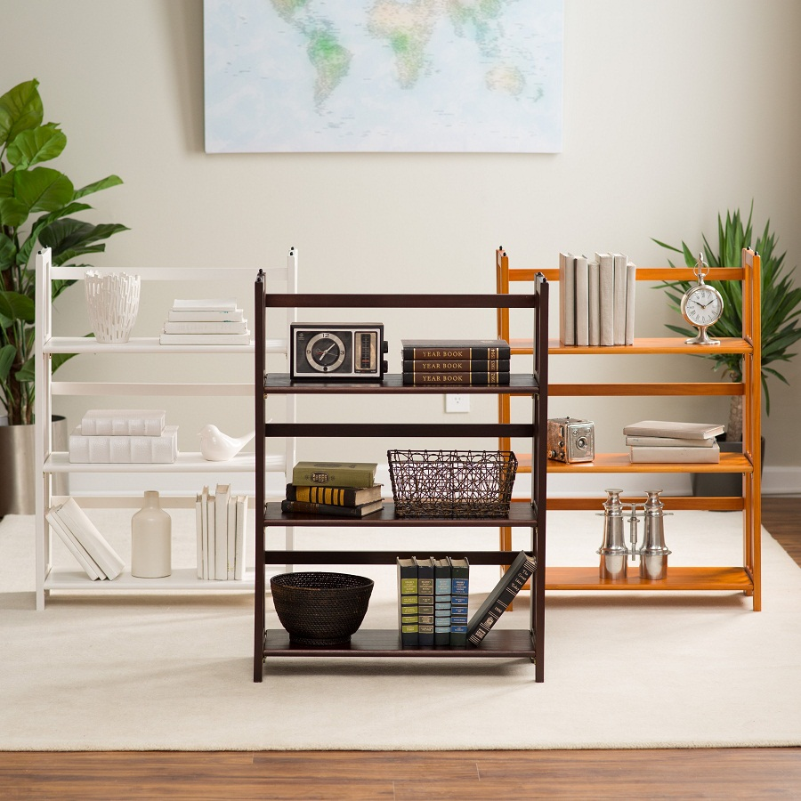 Image of: Folding Bookcase Color