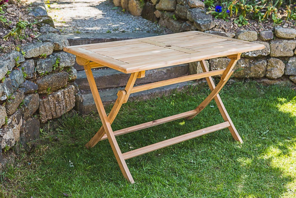 Folding Deck Table Wood