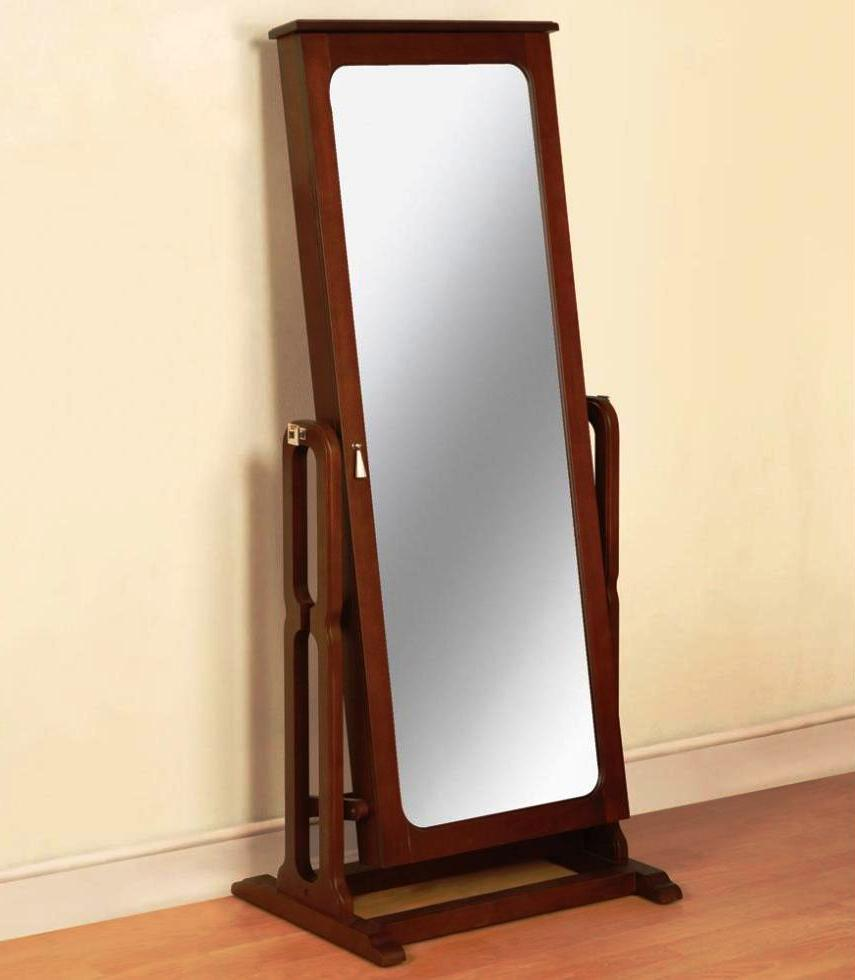 Image of: Free Standing Mirror Jewelry Armoire