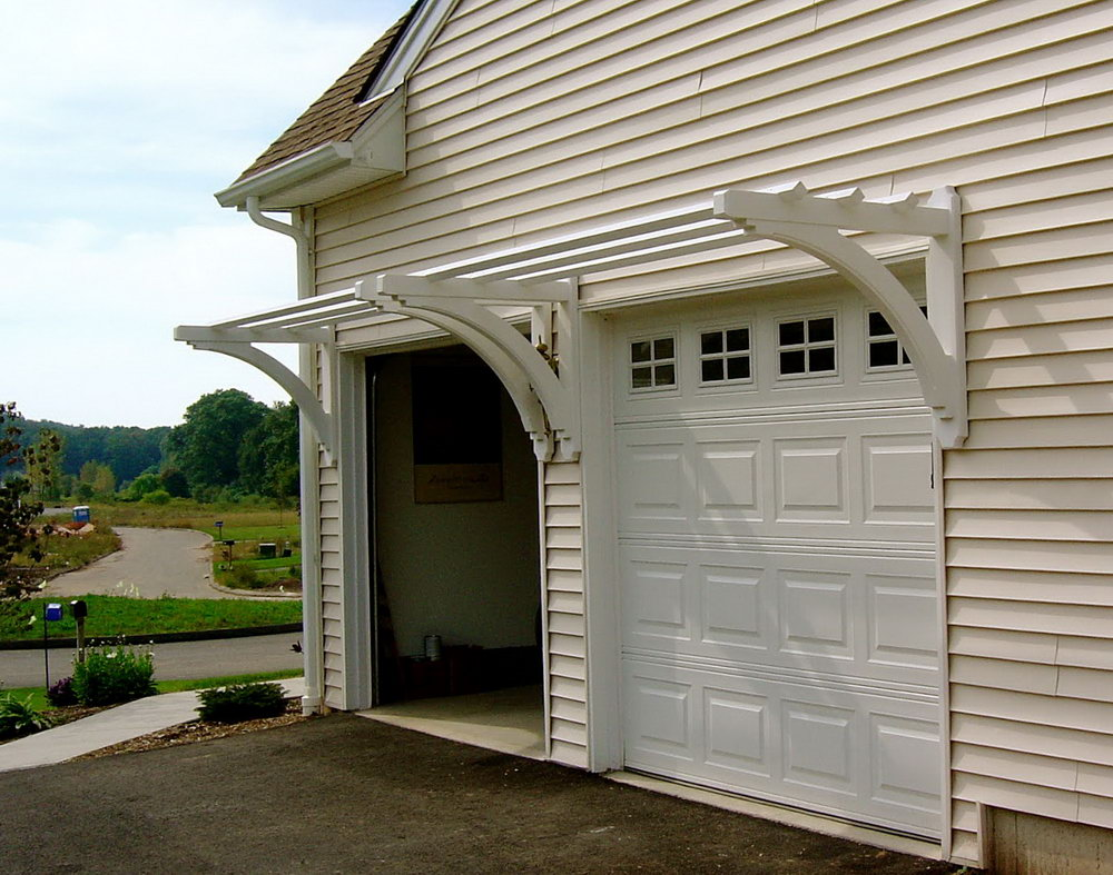 Image of: Front Door Pergola Image