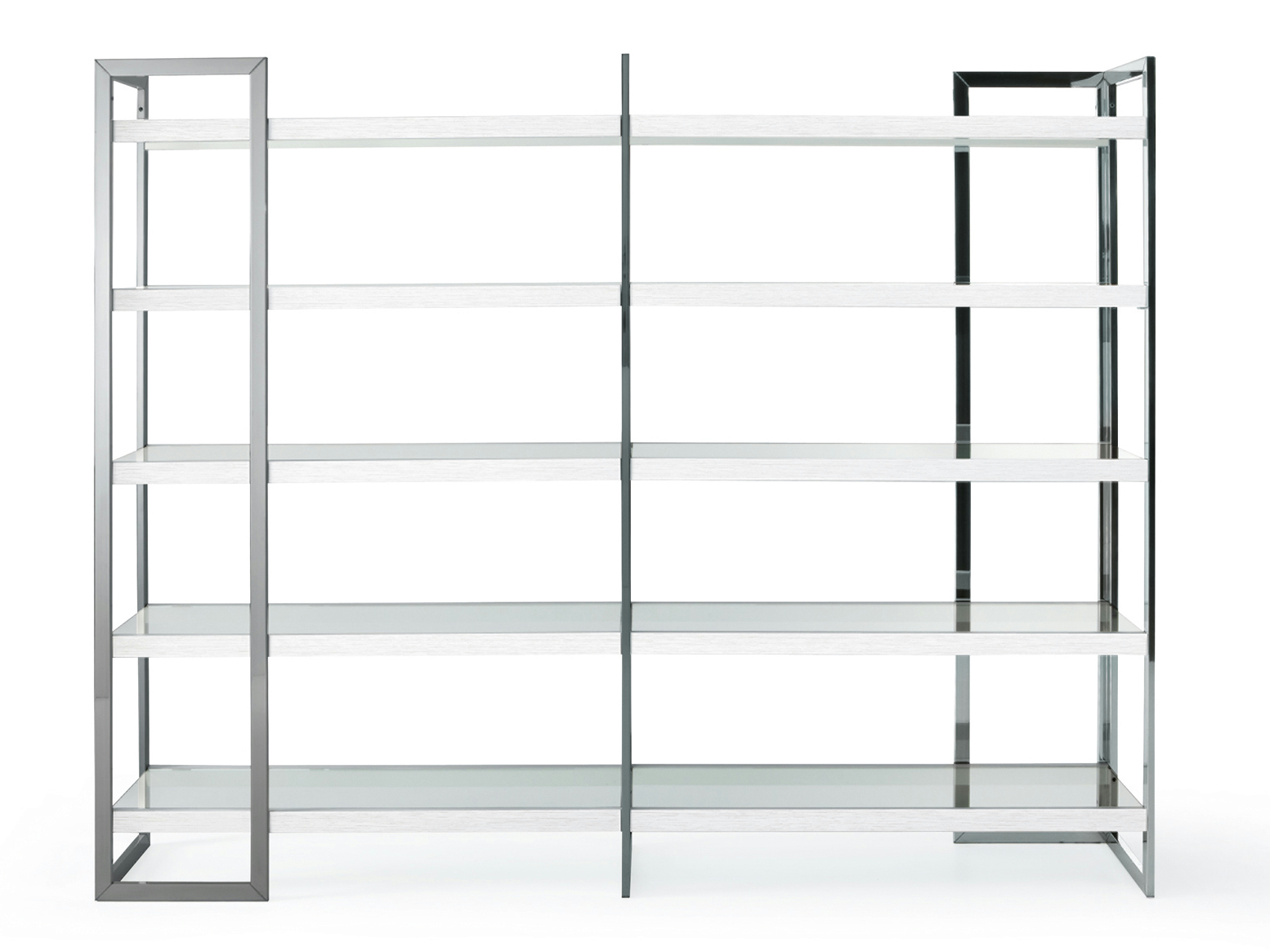 Image of: Gallery Steel Bookcase