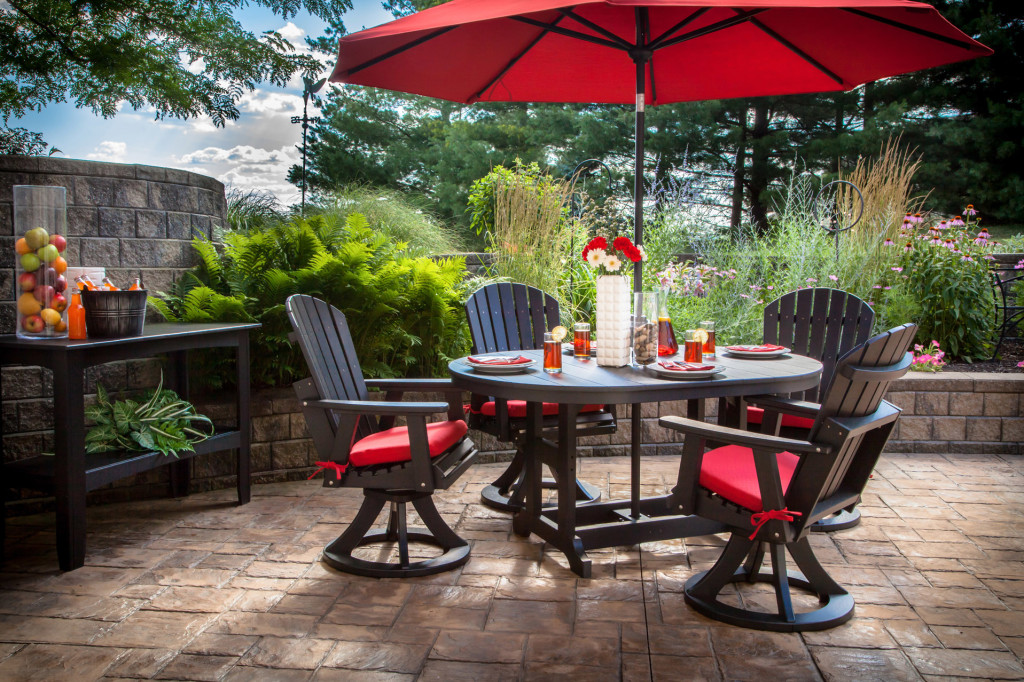 Garden Patio Dining Set with Umbrella