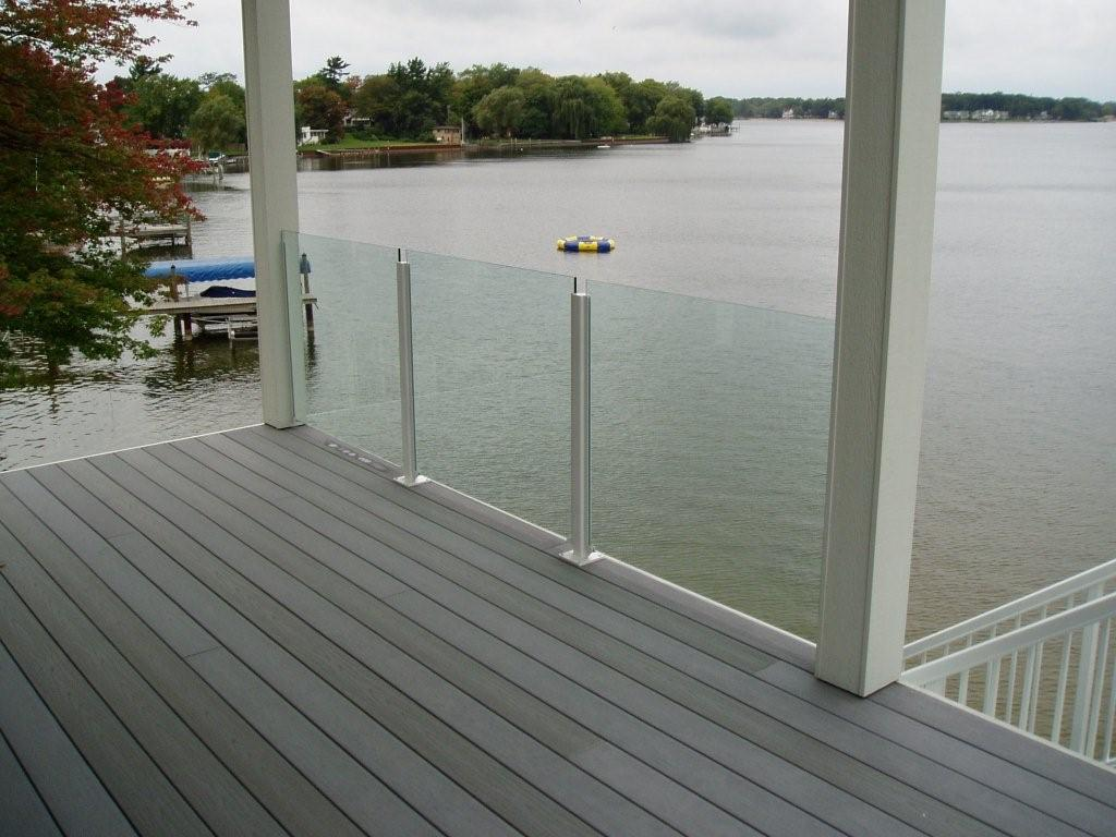 Glass Deck Railing System