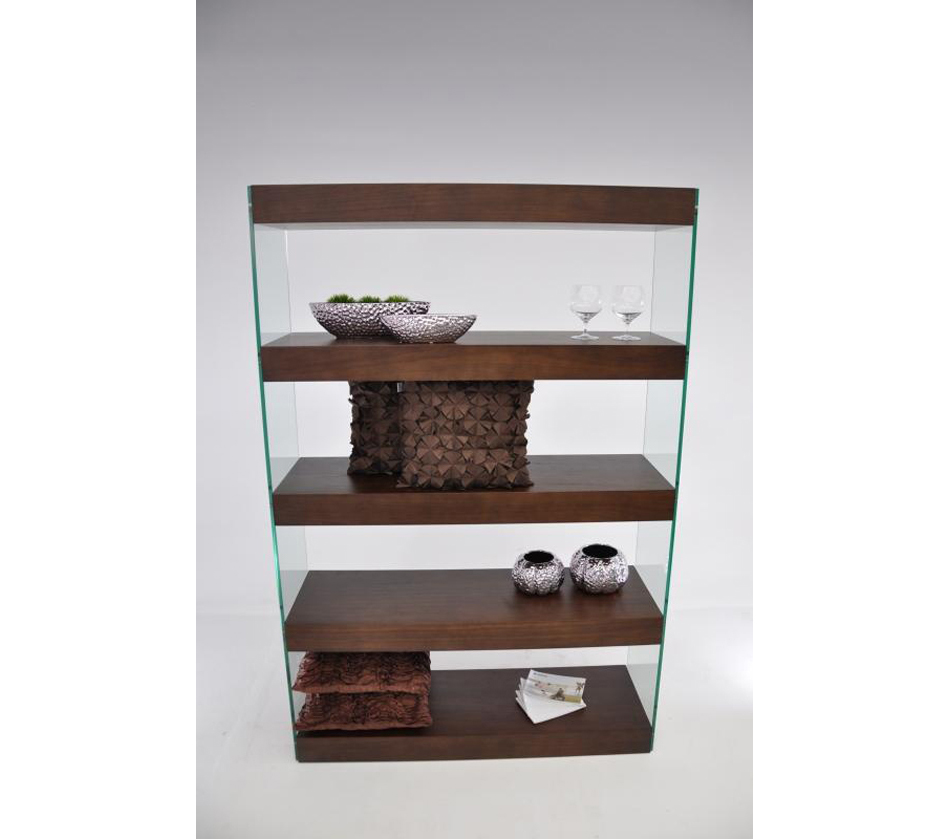 Image of: Glass Floating Bookcase