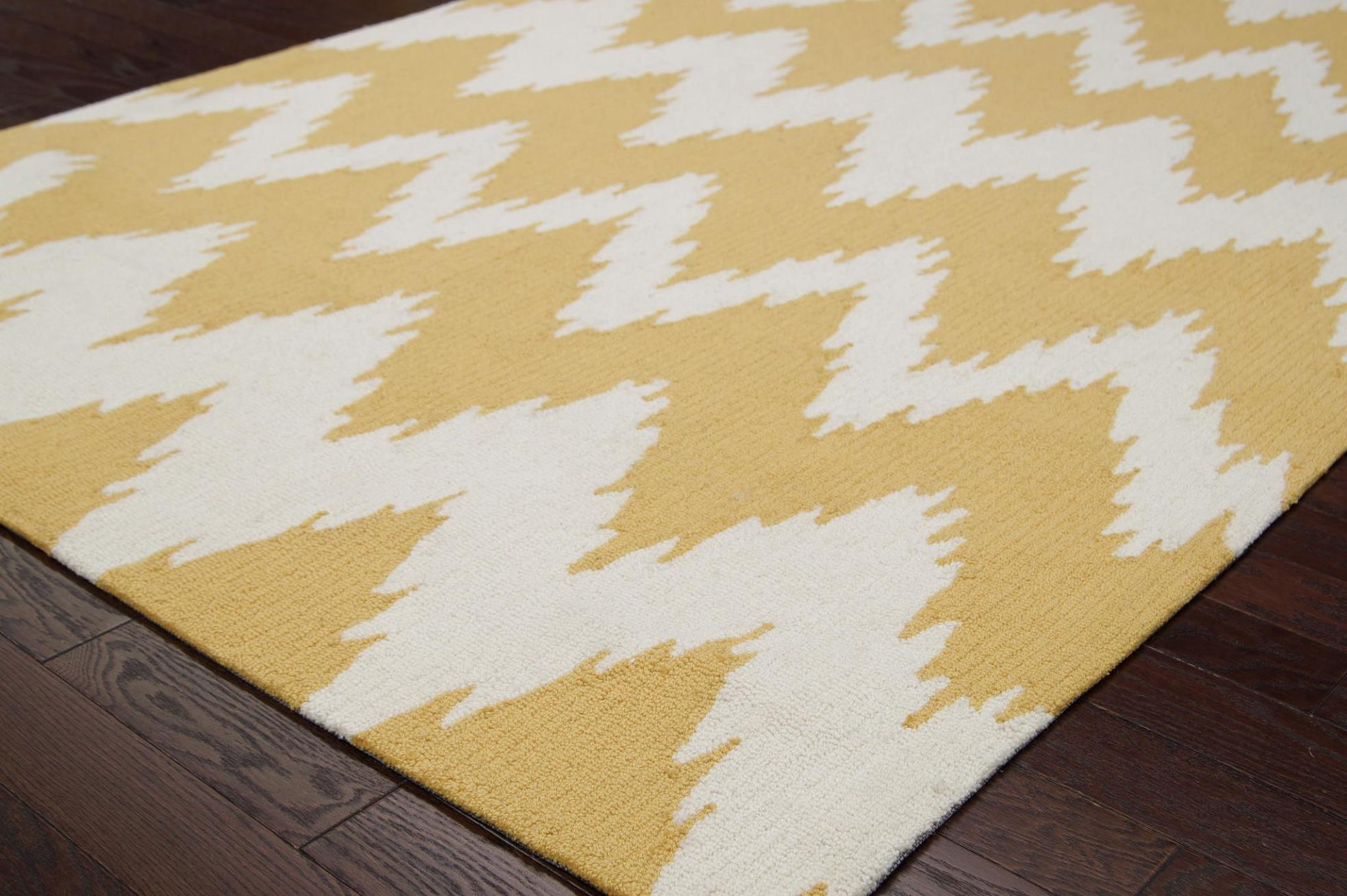 Image of: Gold Chevron Area Rug