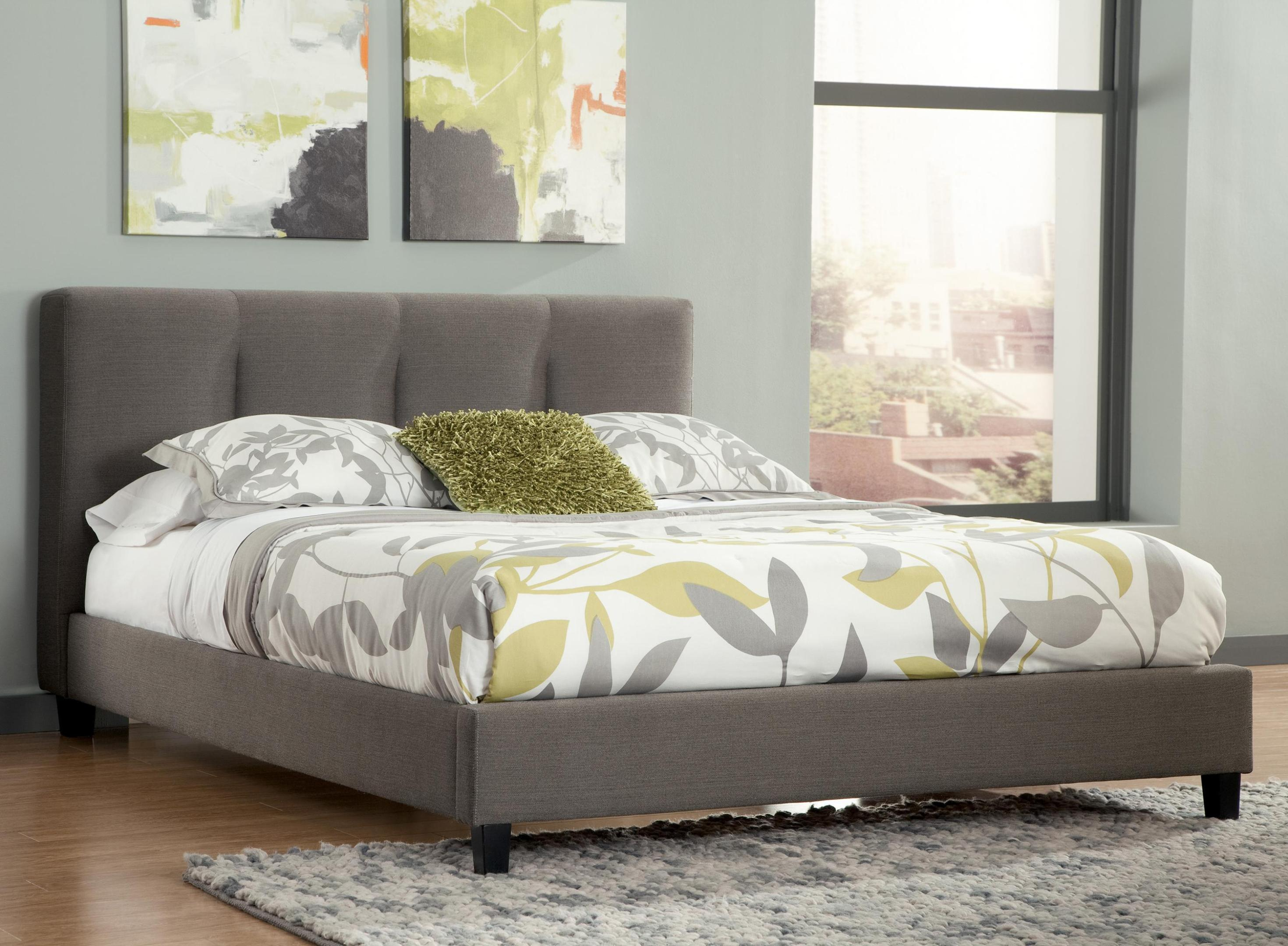 Image of: Gray Quilted Headboard