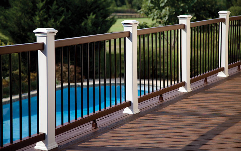 Image of: Great Composite Deck Railings