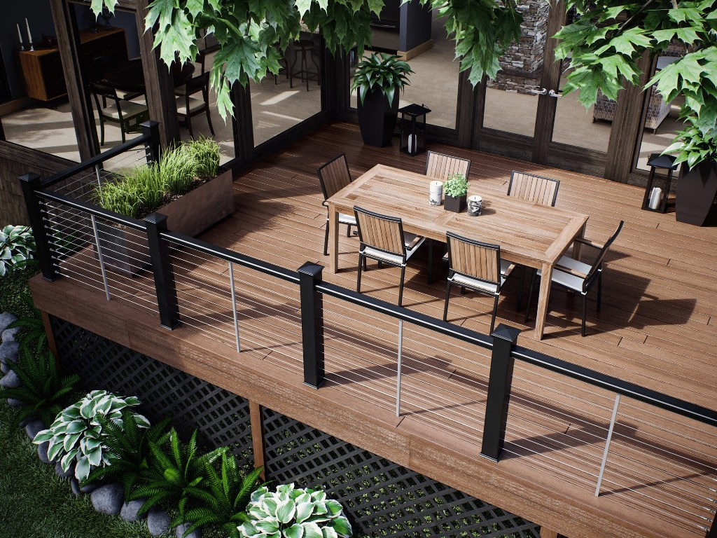 Image of: Great Metal Deck Railing Ideas