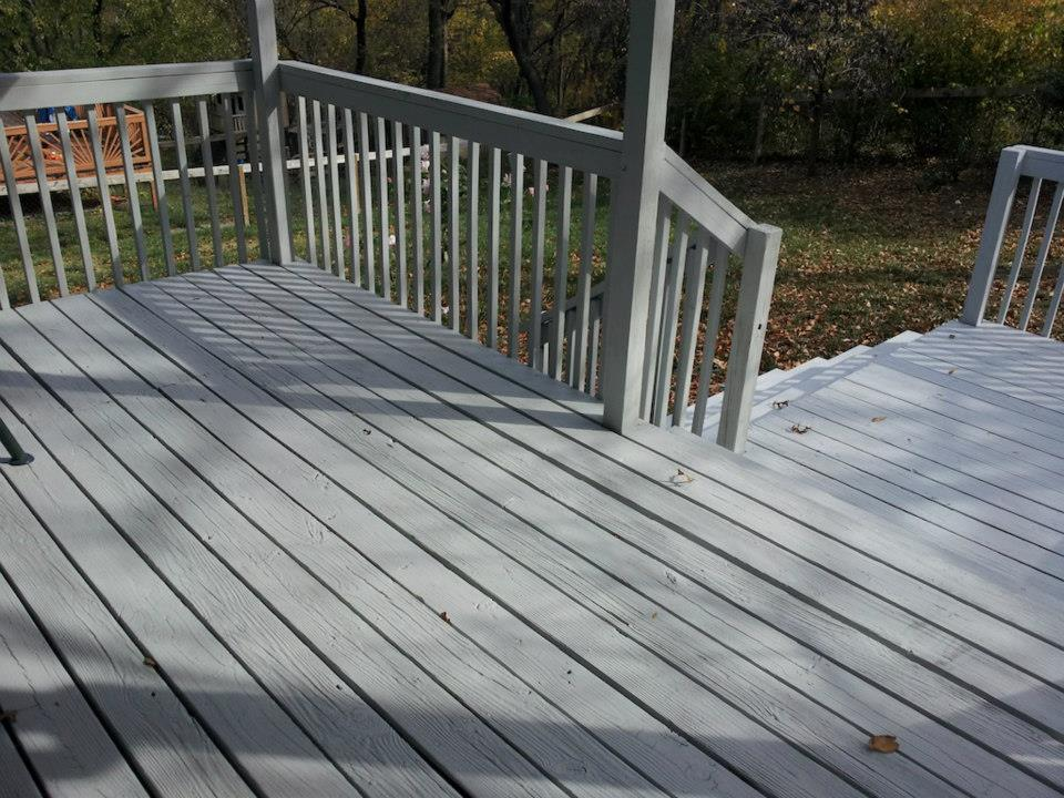 Image of: Grey Solid Deck Stain
