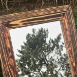 Handmade Reclaimed Wood Mirror Frame