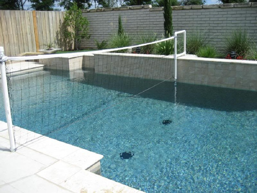 Image of: Home Pool Volleyball Net