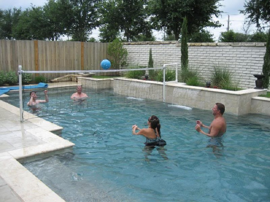 Image of: Homemade Pool Volleyball Net