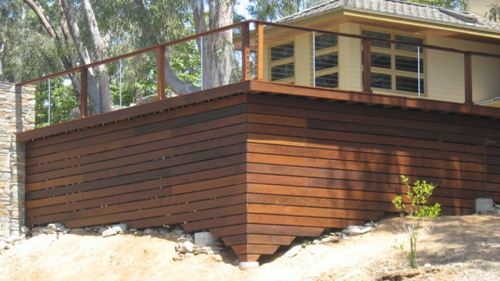 Image of: Horizontal Deck Railing Concept