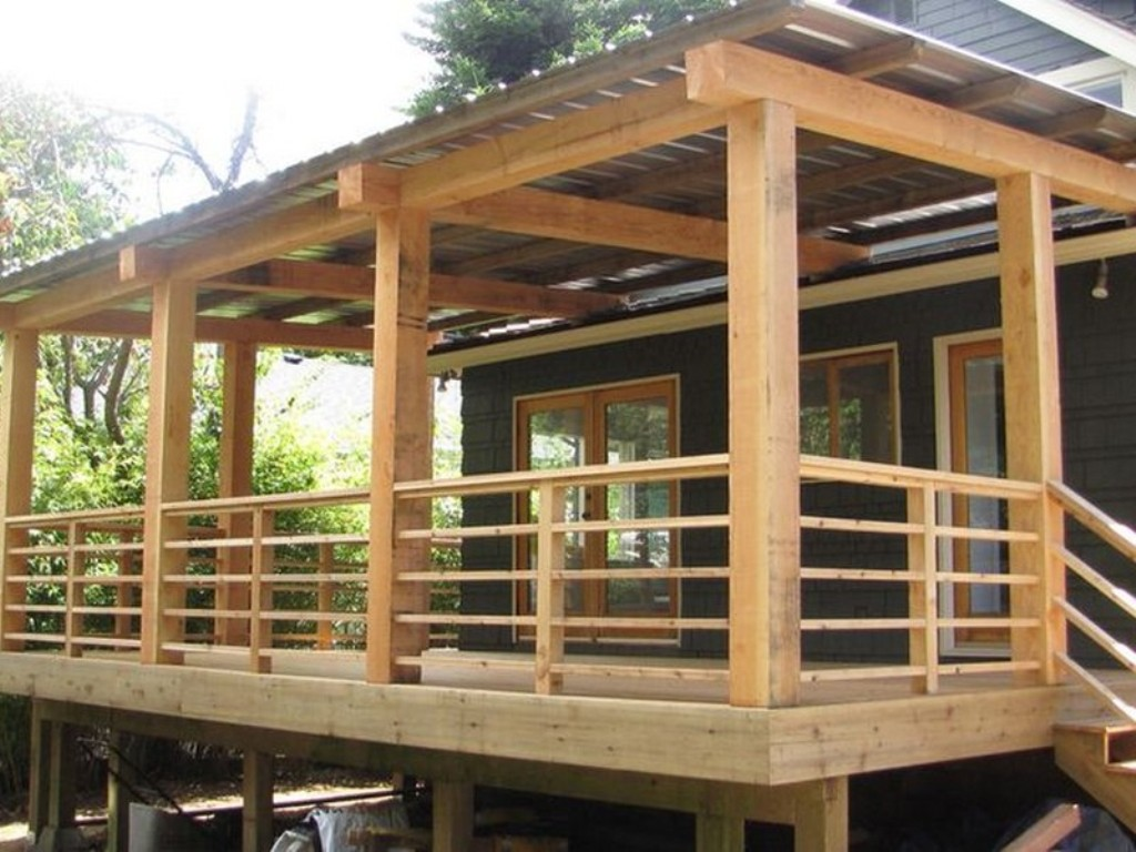 Image of: Horizontal Deck Railing Home