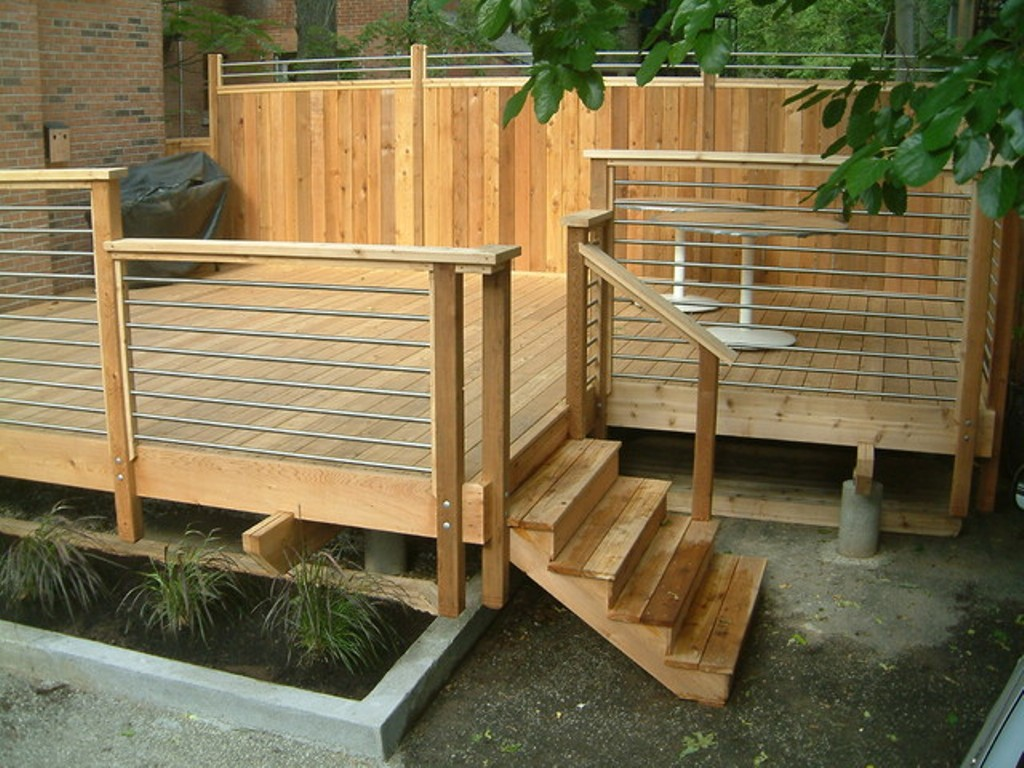Image of: Horizontal Deck Railing Small