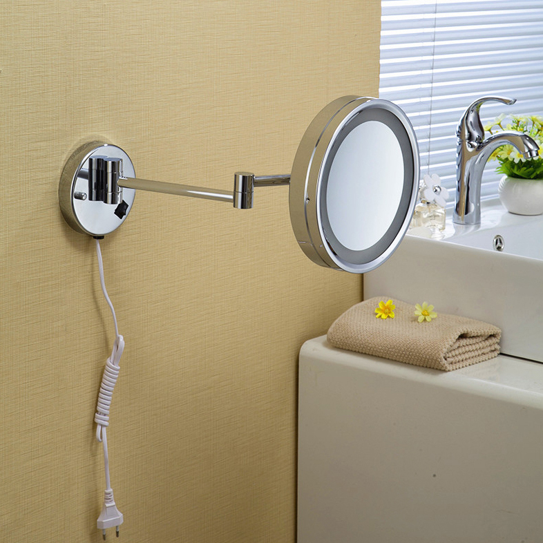 Image of: Idea Lighted Makeup Mirror Wall Mounted