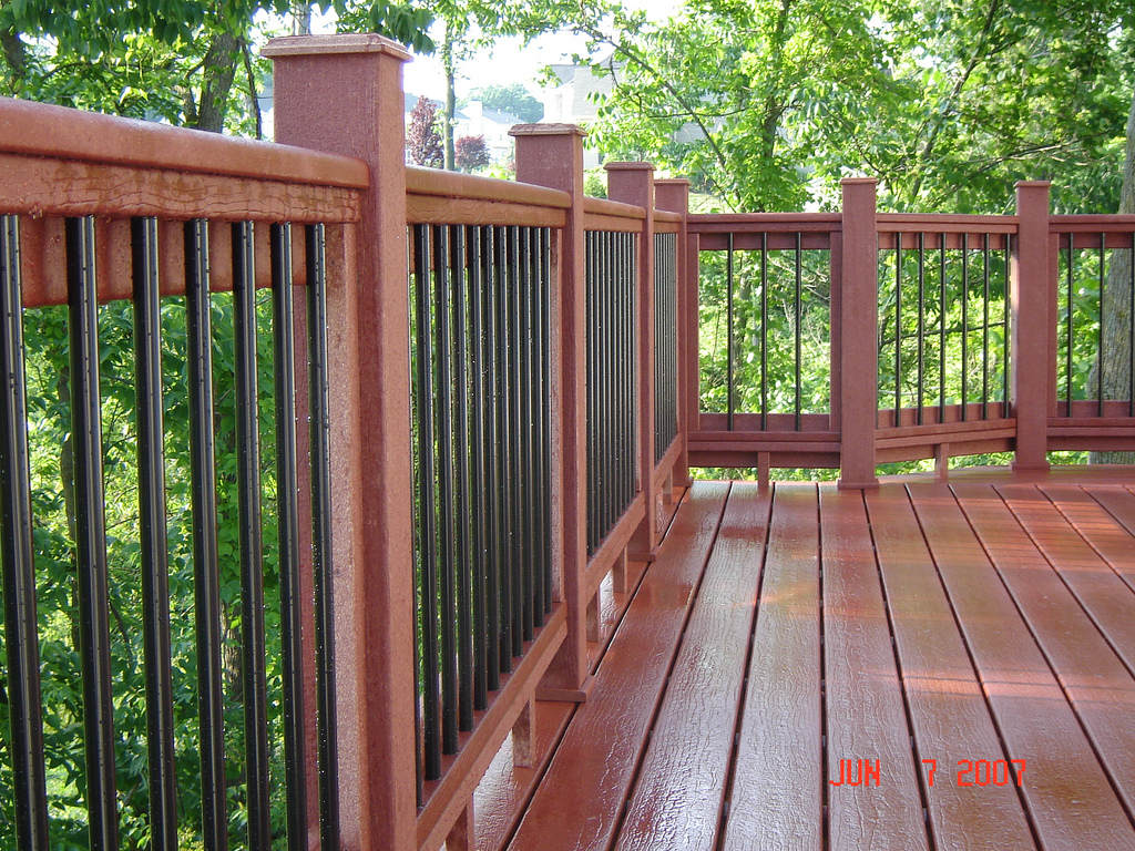 Image of: Idea Metal Balusters For Deck