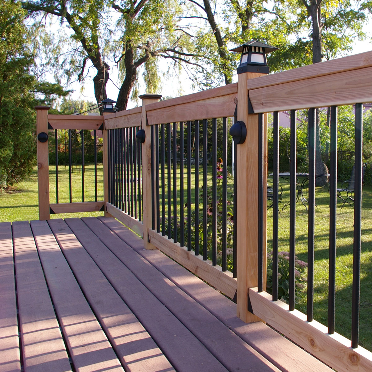 Image of: Imajination Metal Balusters For Deck
