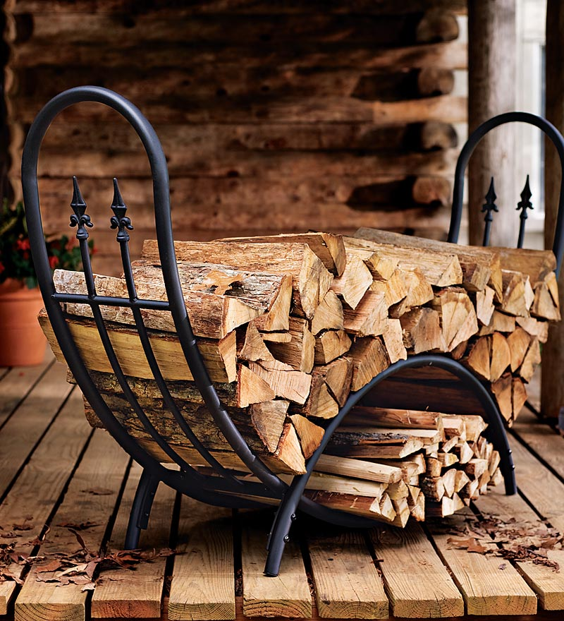 Image of: Indoor Firewood Holder