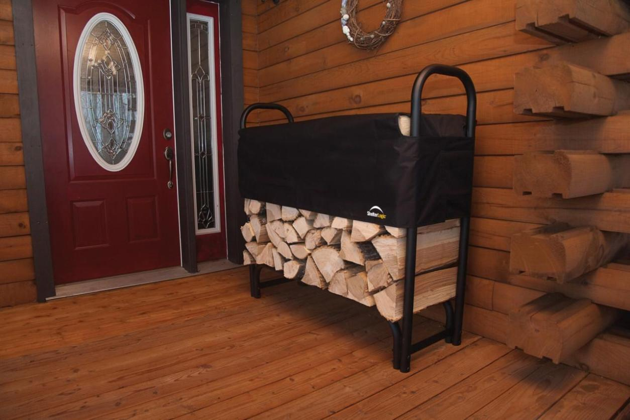 Image of: Indoor Firewood Holders