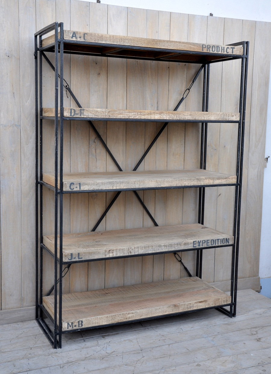 Image of: Industrial Bookcase Designs